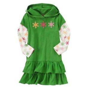Gymboree Girls Green Long Sleeve Tunic Dress